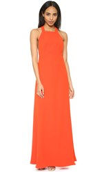 Jill Stuart High Neck Maxi Dress Tangerine