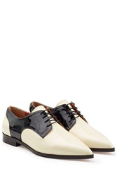 Red Valentino Patent Leather Saddle Shoes Multicolor