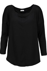 Splendid Supima Cotton And Micro Modal Blend Top Black