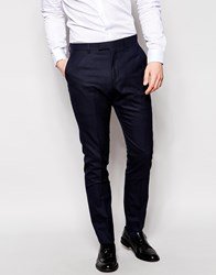 Reiss Micro Check Suit Trousers In Tailored Fit Navy