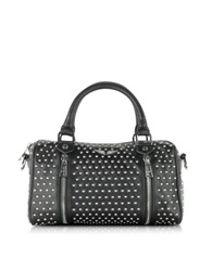 Zadig And Voltaire Xs Sunny Studs Black Leather Satchel W Shoulder Strap