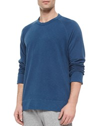James Perse Long Sleeve Crewneck Sweatshirt Slate Grey