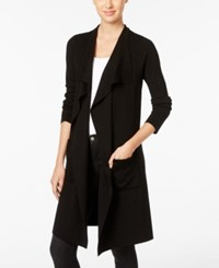 Inc International Concepts Petite Duster Cardigan Only At Macy's Deep Black