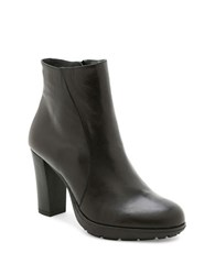 Andre Assous Misty Water Resistant Leather Ankle Boots Black
