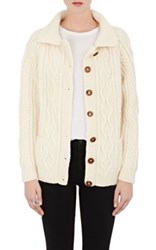 Icons Men's Mixed Stitch Crewneck Cardigan Cream