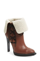 Gx By Gwen Stefani 'Tribe' Foldover Cuff Bootie Women Cognac Ivory Faux Leather