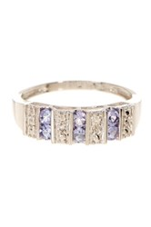 Candela 10K White Gold Tanzanite And Diamond Accent Ring Multi