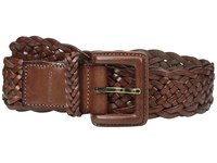 Cole Haan 40Mm Braided Veg Leather Belt With Covered Harness Buckle Woodbury Women's Belts Burgundy