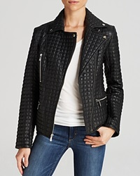 Dl2 By Dawn Levy Marley Quilted Leather Moto Jacket Black
