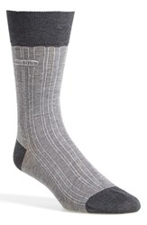 Men's Boss 'Paul' Cotton Blend Crew Socks Metallic Silver