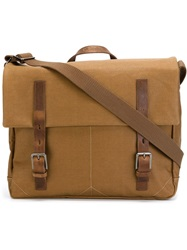 Ally Capellino 'Ben' Waxed Satchel Brown