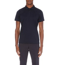 Calvin Klein Janton Mercerised Cotton Polo Shirt Navy