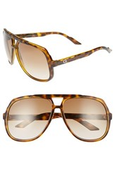 Gucci Men's Logo Temple 63Mm Aviator Sunglasses