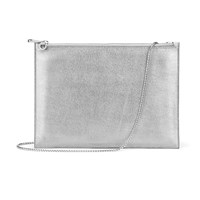 Aspinal Of London Soho Flat Clutch White