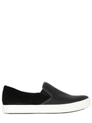 United Nude Silicone Mesh And Suede Slip On Sneakers Black