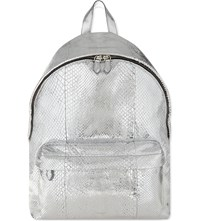 Givenchy Classic Metallic Python Backpack Silver