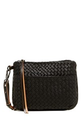 Christopher Kon Woven Leather Crossbody Black