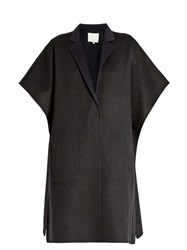 Tibi Bi Colour Wool Blend Coat Navy