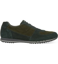 Car Shoe Suede Running Trainers Green