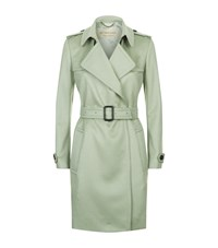 Burberry Tempsford Cashmere Trench Coat Female Green