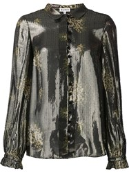 Suno Metallic Grey Effect Shirt