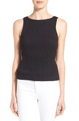 Chelsea 28 Women's Chelsea28 Cutout Back Stretch Knit Sleeveless Top Black