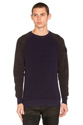 G Star Core Raglan Sweater Navy