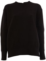 Sacai Lace Up Panelled Sweatshirt Black