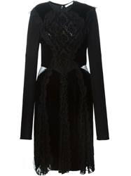 Givenchy Baroque Patterned Velour Dress Black