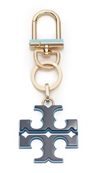 Tory Burch Resin Logo Keyfob Royal Navy