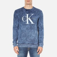 Calvin Klein Men's Hinter Crew Neck Sweatshirt Night Sky Blue