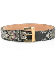 Etro 'Amebas' Belt Grey