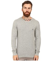 Original Penguin Long Sleeve Reversible Crew Griffin Men's Long Sleeve Pullover Gray