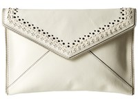 Rebecca Minkoff Leo Clutch With Studs Antique White Clutch Handbags