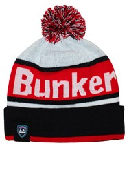 Bunker Mentality Stripe Bobble Hat Black