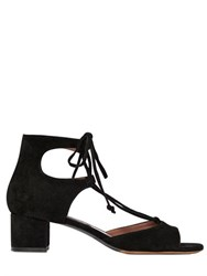 Tabitha Simmons 50Mm Tallia Suede Lace Up Sandals