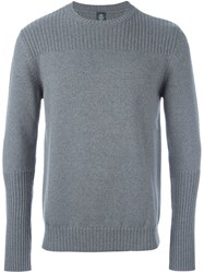 Eleventy Ribbed Knitted Sweater Grey