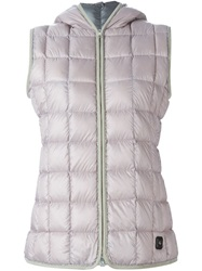 Fay Hooded Padded Gilet Pink And Purple