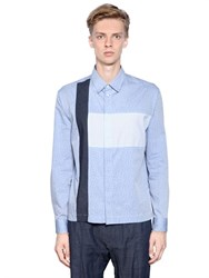 Antonio Marras Patchwork Stretch Cotton Poplin Shirt