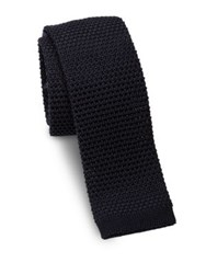 Ralph Lauren Woven Silk Square End Slim Tie Navy