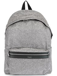 Saint Laurent 'City' Backpack Metallic