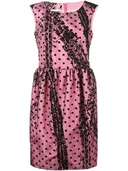 Moschino Polka Dot Dress Pink Purple
