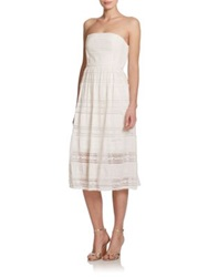 4.Collective Strapless Bohemian Lace Dress Ivory