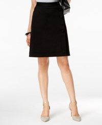 Alfani Prima Faux Wrap A Line Skirt Only At Macy's Deep Black