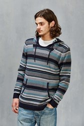 Cpo Reverse Stripe Hooded Sweater Navy