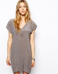 2Nd Day Claudie Silk Dress Grey