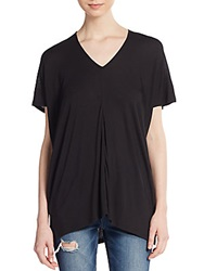 Vince Double V Neck Tee Black
