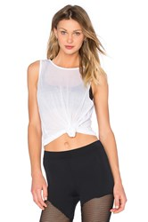 Solow Scoop Back Tank White