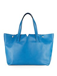 Vince Signature Leather Tote Ocean