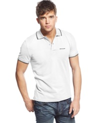 Armani Jeans Tipped Polo White Black